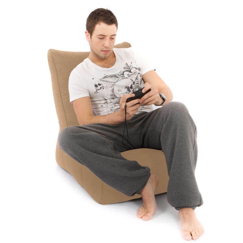 Faux Suede Comfy Adult Chair Bean Bag