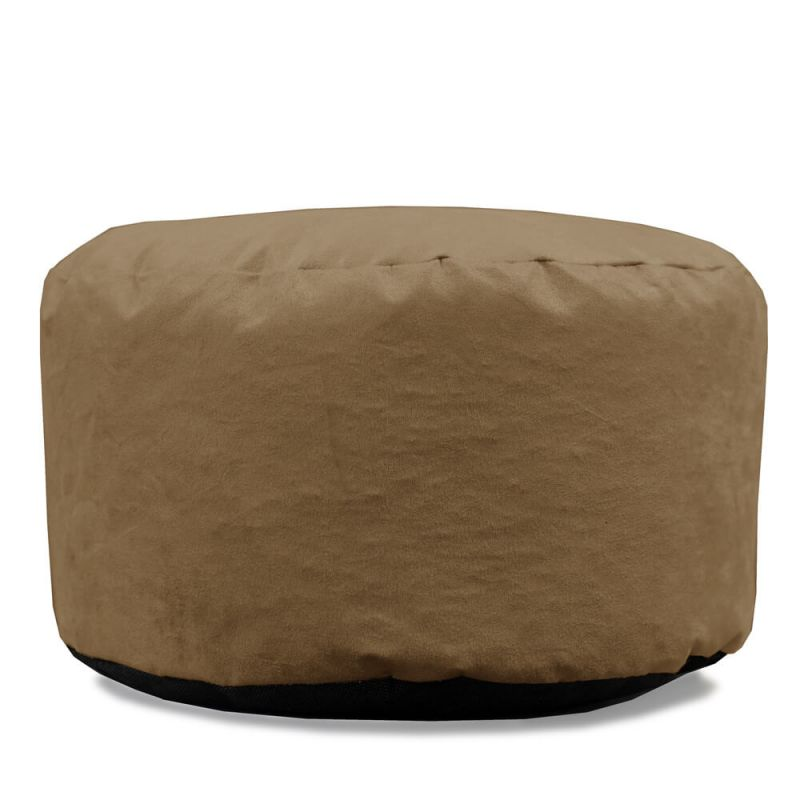 Faux Suede Footstool Bean Bag - Beige