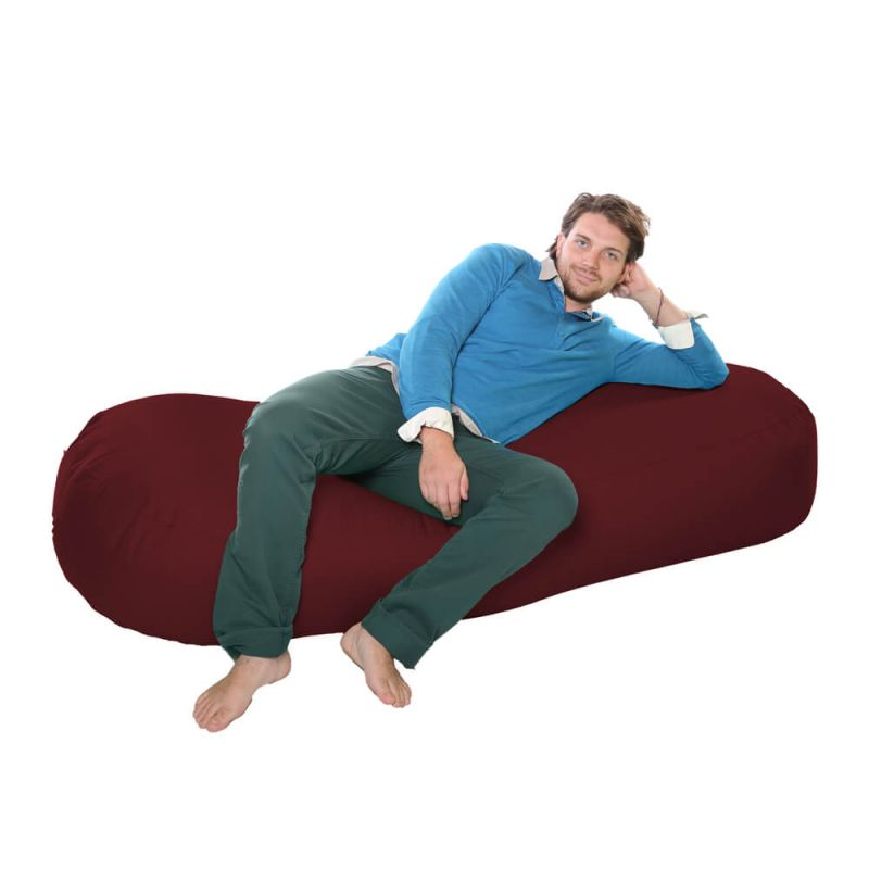 Vibe 6ft Bean Sofa Bean Bag - Berry