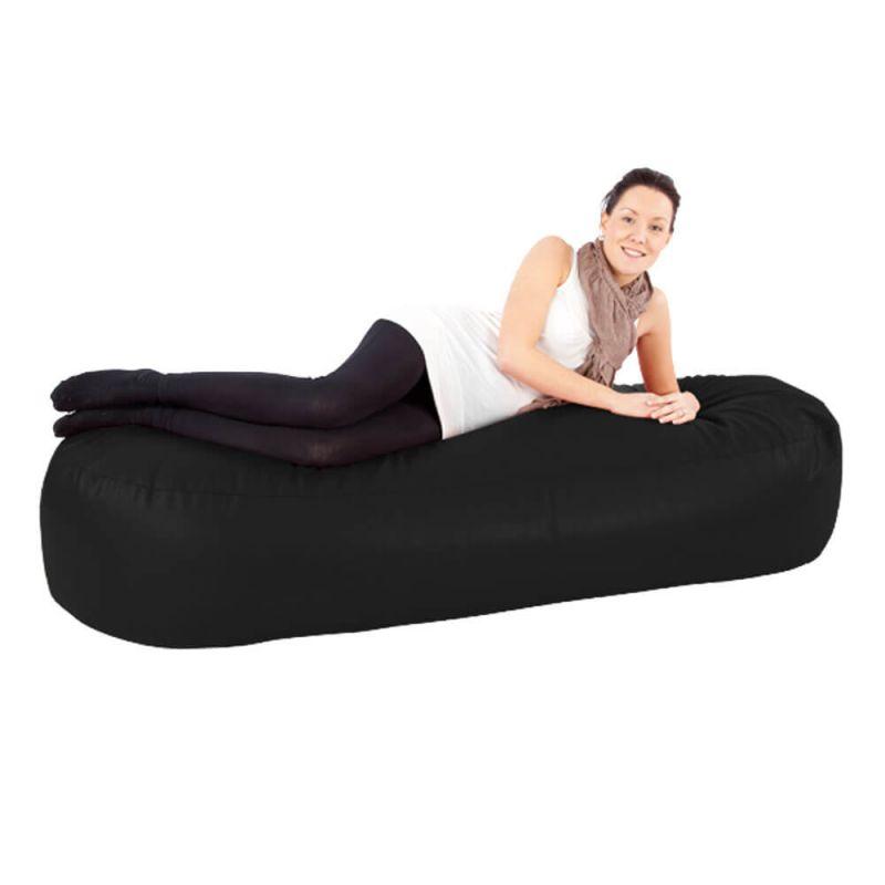 Faux Leather 6ft Bean Sofa Bean Bag - Black