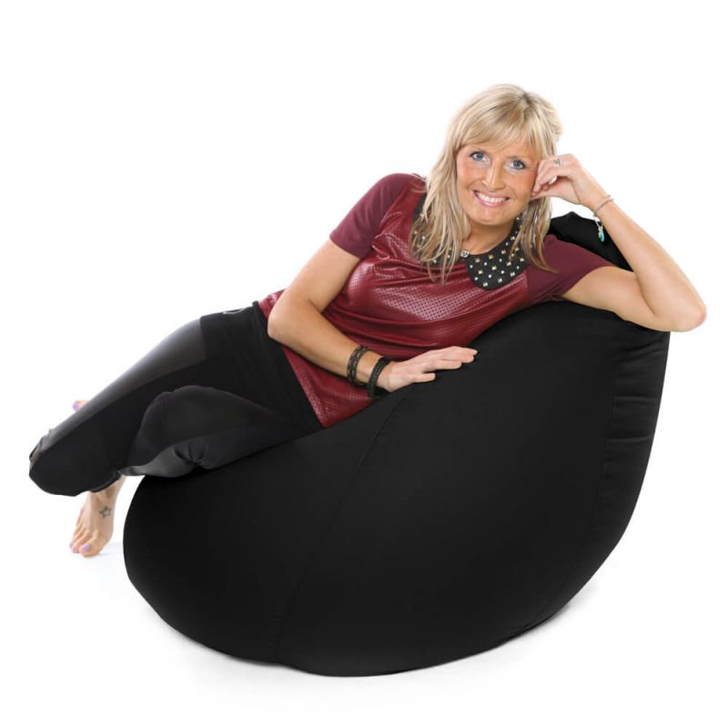Faux Leather XXL Gaming Pod Bean Bag - Black