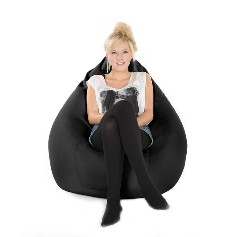 Indoor & Outdoor XXL Gaming Pod Bean Bag - Black