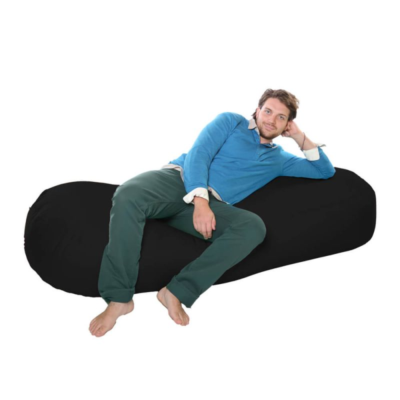Vibe 6ft Bean Sofa Bean Bag - Black