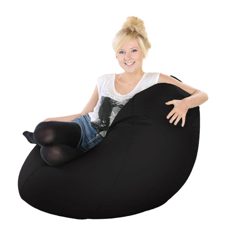 Vibe Highback Mansize Bean Bag - Black