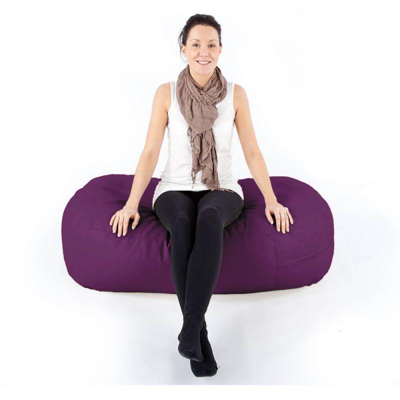 Vibe Ottoman Bean Bag - Purple