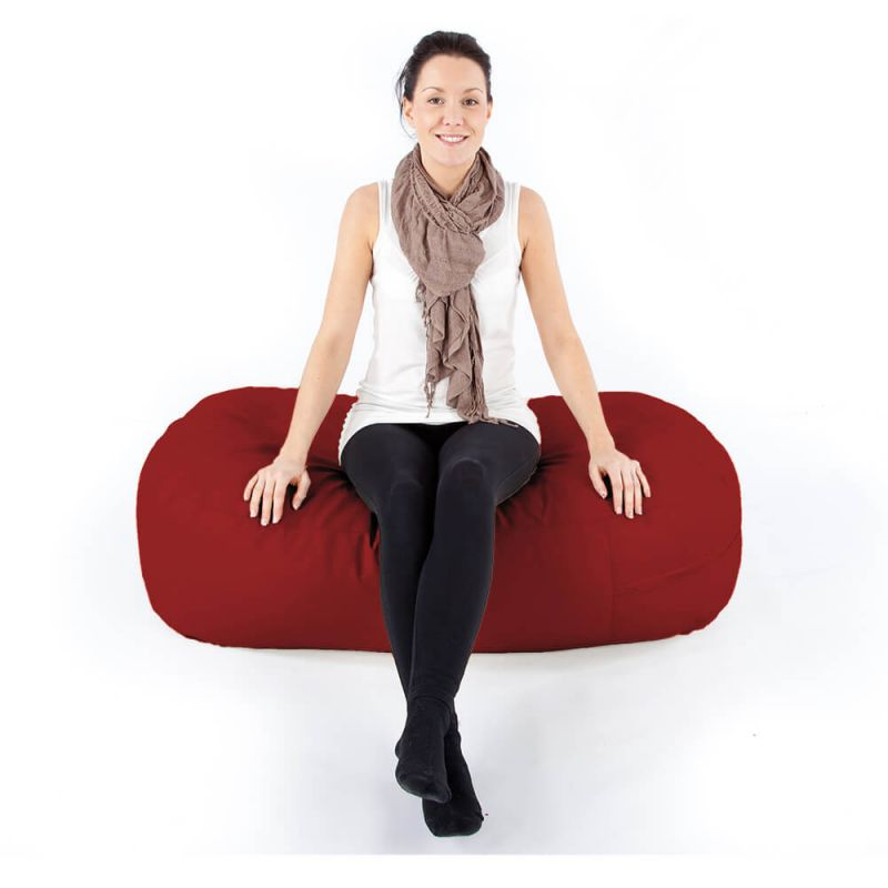 Vibe Ottoman Bean Bag - Red