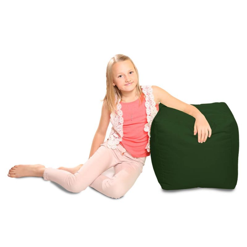 Indoor & Outdoor Cube Bean Bag - Bottle Green