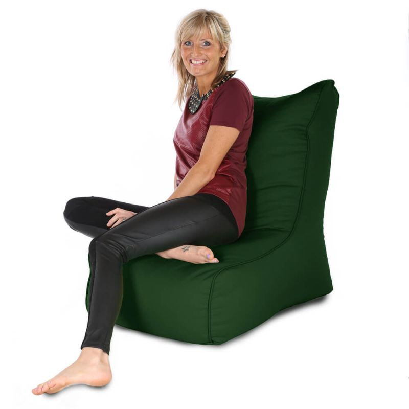 Indoor & Outdoor Comfy Adult Chair Bean Bag - Bottle Green
