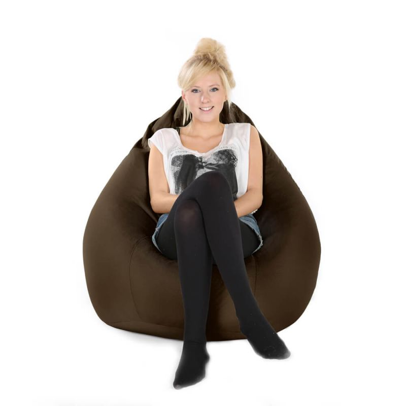 Indoor & Outdoor XXL Gaming Pod Bean Bag - Brown