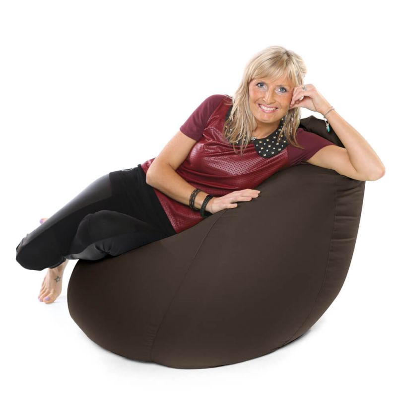Faux Leather XXL Gaming Pod Bean Bag - Brown