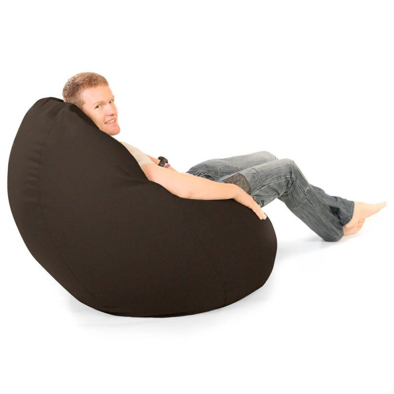 Faux Suede Giant Mansize Bean Bag - Brown