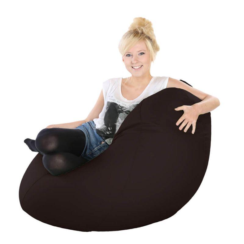 Vibe Highback Mansize Bean Bag - Brown