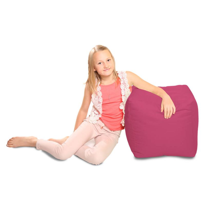 Indoor & Outdoor Cube Bean Bag - Cerise Pink