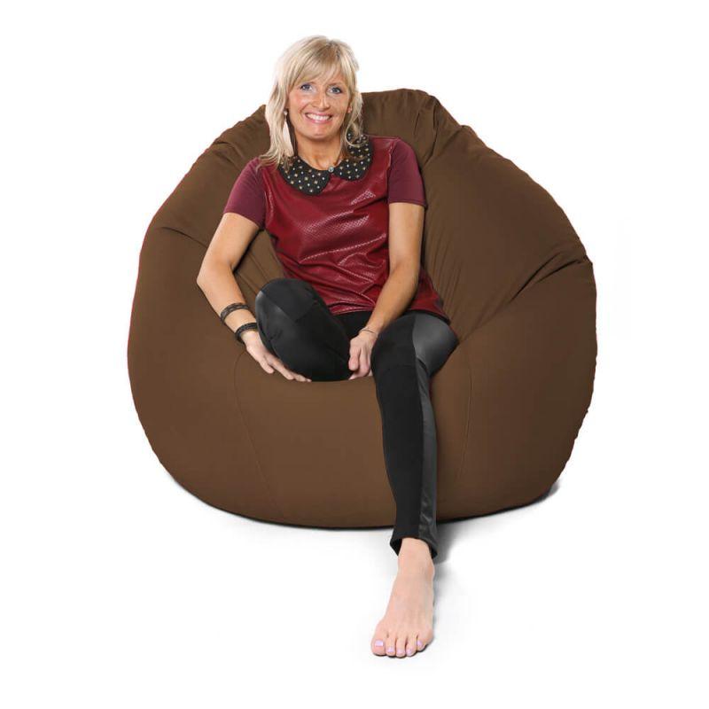 Vibe Giant Mansize Bean Bag - Chocolate Brown