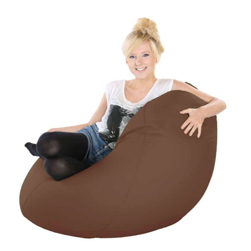 Vibe Highback Mansize Bean Bag - Chocolate Brown