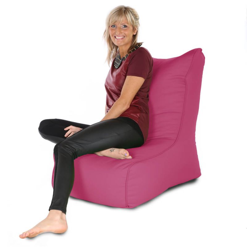 Indoor & Outdoor Comfy Adult Chair Bean Bag - Cerise Pink