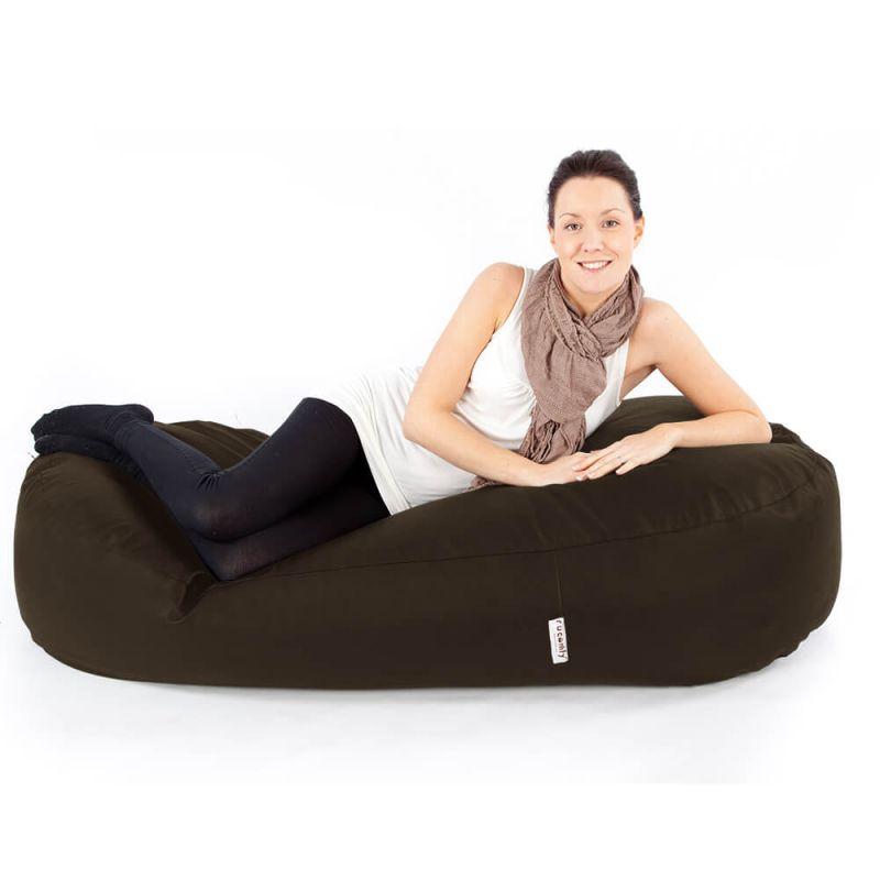 Faux Leather 5ft Bean Sofa Bean Bag - Brown