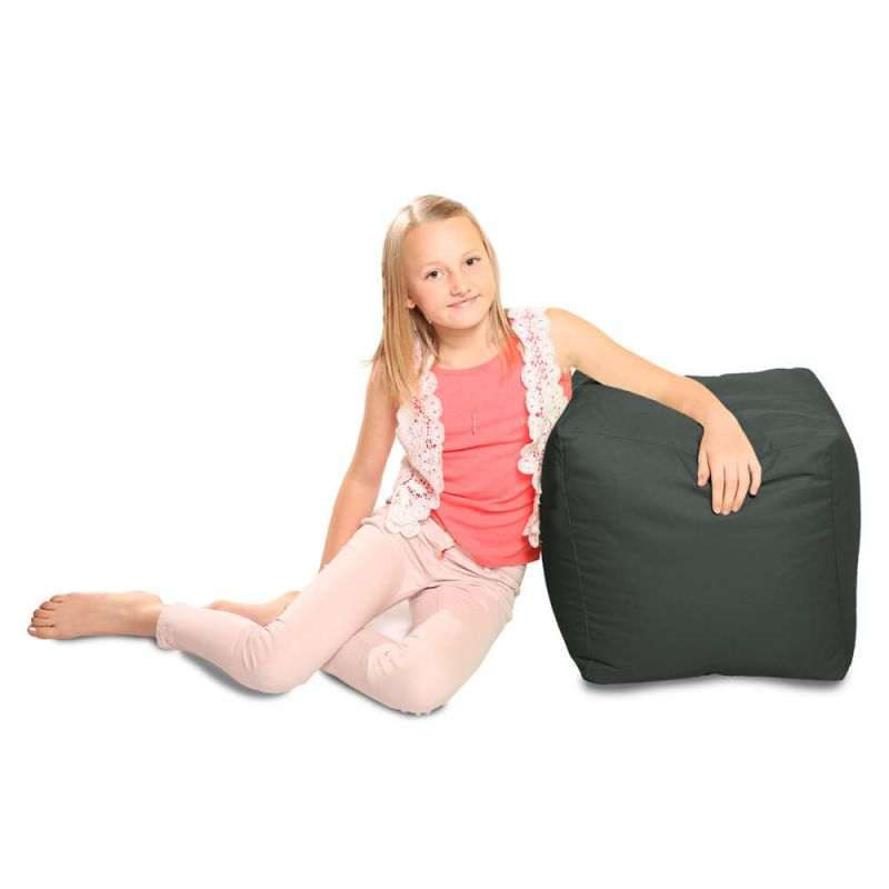 Indoor & Outdoor Cube Bean Bag - Slate Grey