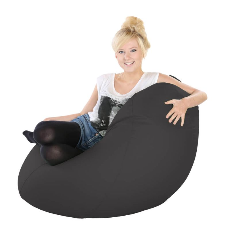 Vibe Highback Mansize Bean Bag - Slate Grey