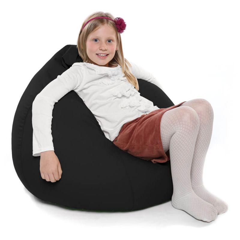 Indoor & Outdoor Kids Tall Gamer Bean Bag - Black