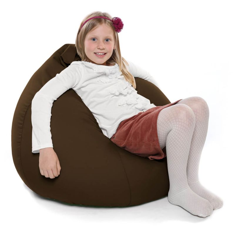 Indoor & Outdoor Kids Tall Gamer Bean Bag - Brown