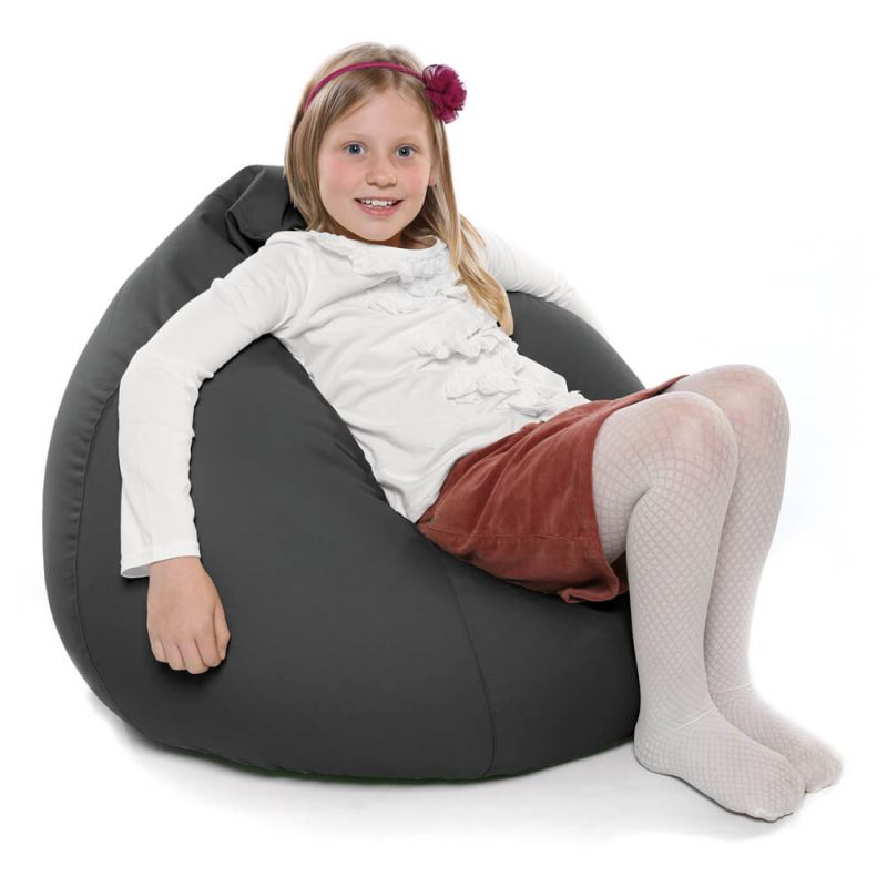 Indoor & Outdoor Kids Tall Gamer Bean Bag - Slate Grey