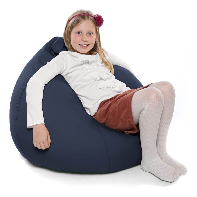 Indoor & Outdoor Kids Tall Gamer Bean Bag - Navy Blue