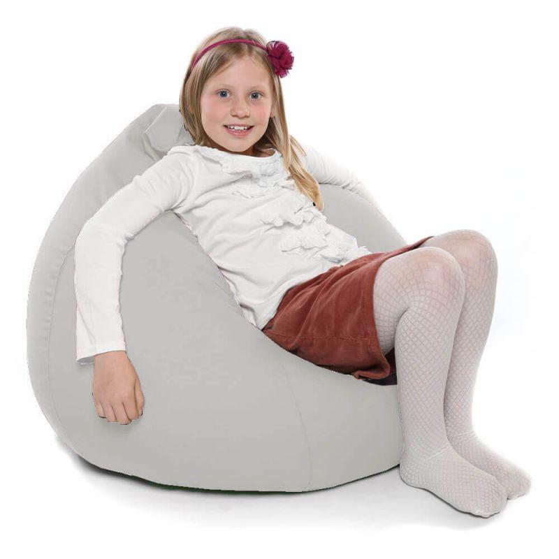 Indoor & Outdoor Kids Tall Gamer Bean Bag - Platinum Grey