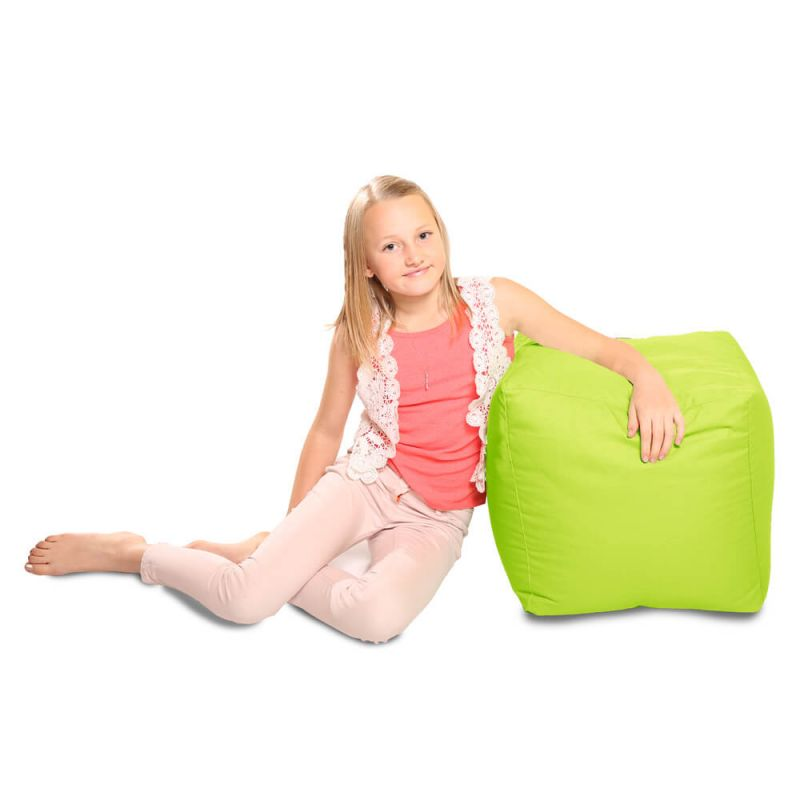Indoor & Outdoor Cube Bean Bag - Lime Green