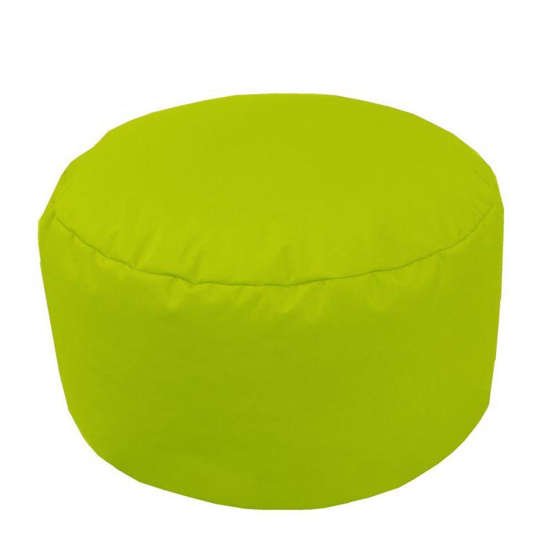 Indoor & Outdoor Footstool Bean Bag - Lime Green