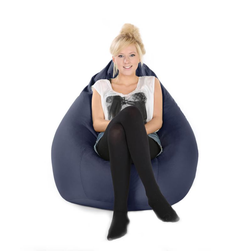 Indoor & Outdoor XXL Gaming Pod Bean Bag - Navy Blue