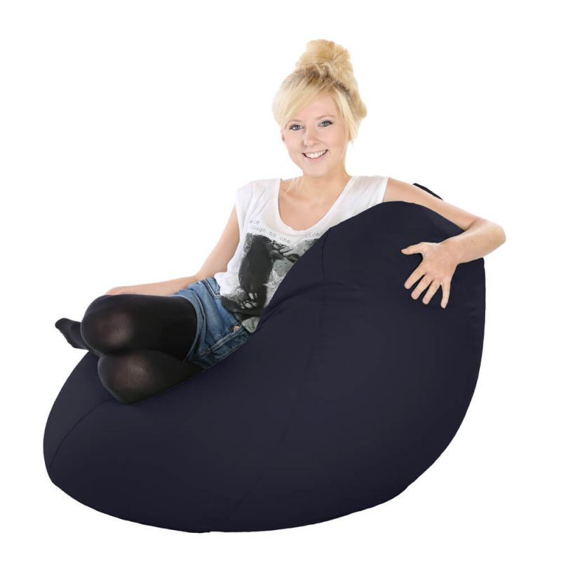 Vibe Highback Mansize Bean Bag - Navy Blue