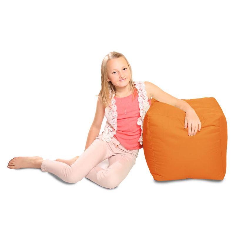 Indoor & Outdoor Cube Bean Bag - Orange