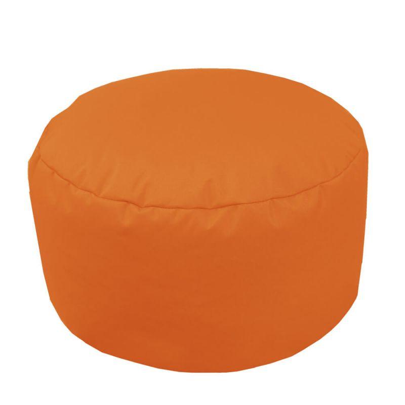 Indoor & Outdoor Footstool Bean Bag - Orange