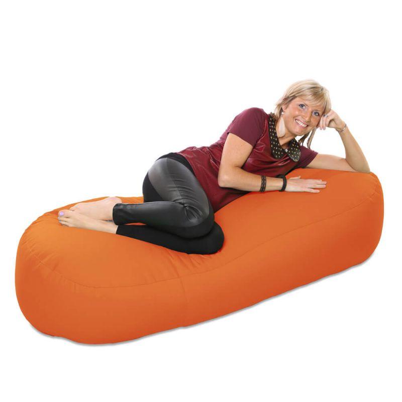 Vibe 5ft Bean Sofa Bean Bag - Orange