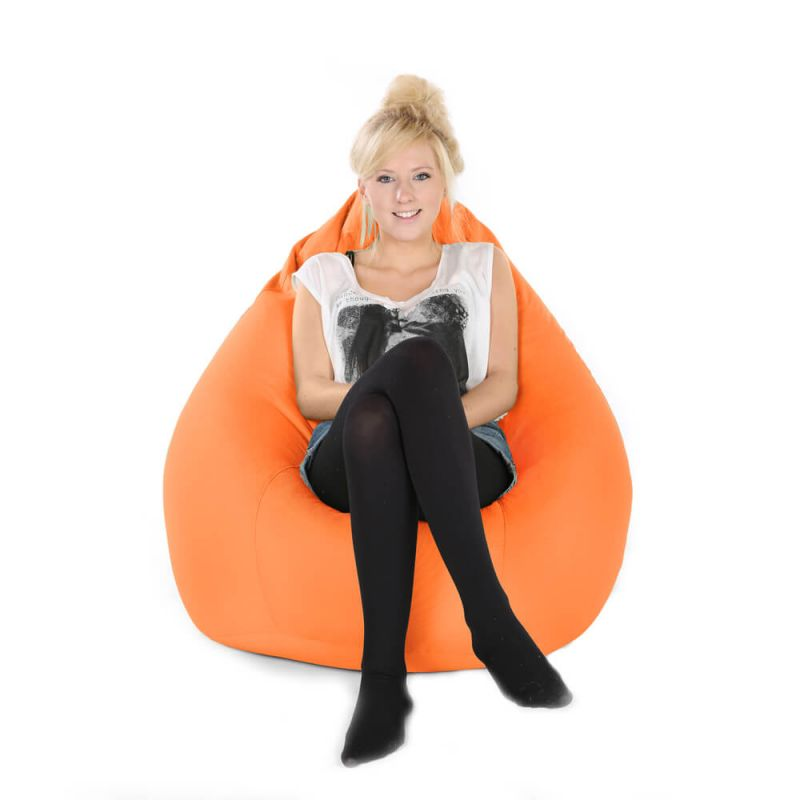 Indoor & Outdoor XXL Gaming Pod Bean Bag - Orange