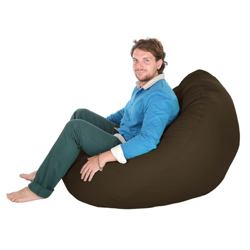 Indoor & Outdoor Giant Mansize Bean Bag - Brown