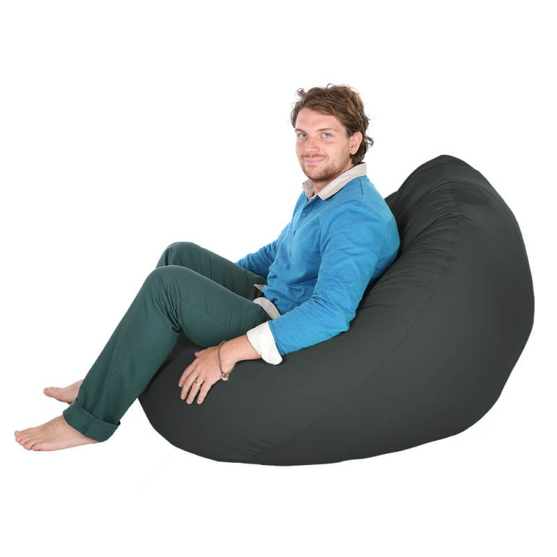 Indoor & Outdoor Giant Mansize Bean Bag - Slate Grey