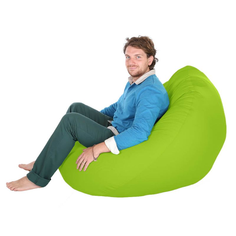 Indoor & Outdoor Giant Mansize Bean Bag - Lime Green