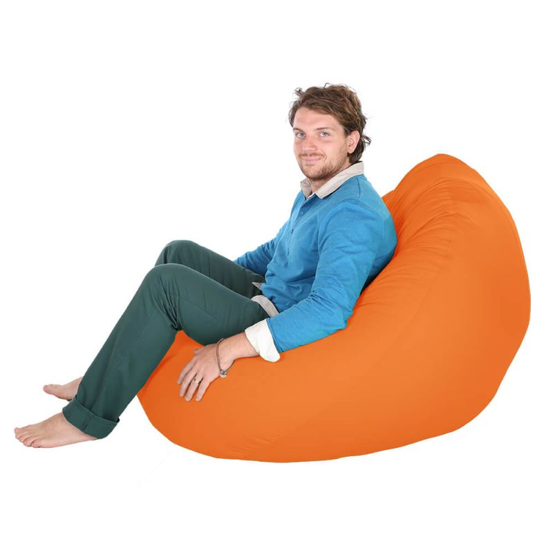 Indoor & Outdoor Giant Mansize Bean Bag - Orange
