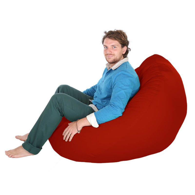 Indoor & Outdoor Giant Mansize Bean Bag - Red