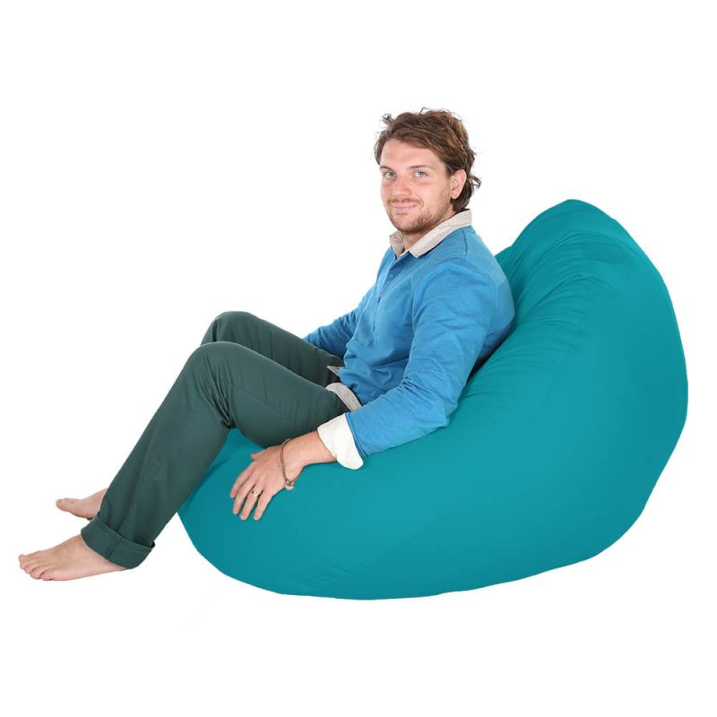 Indoor & Outdoor Giant Mansize Bean Bag - Turquoise