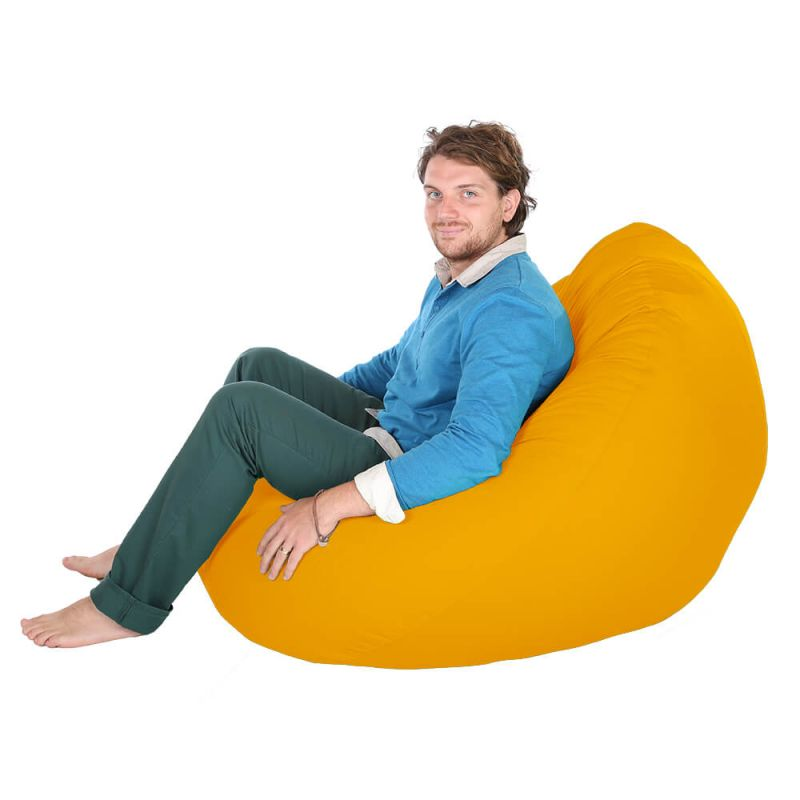 Indoor & Outdoor Giant Mansize Bean Bag - Yellow
