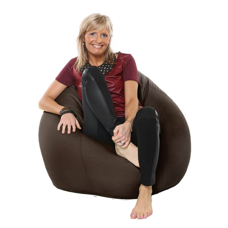 Indoor & Outdoor Highback Mansize Bean Bag - Brown