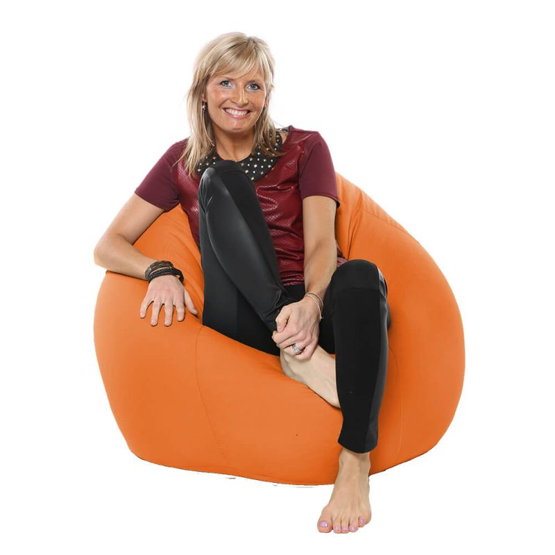 Indoor & Outdoor Highback Mansize Bean Bag - Orange