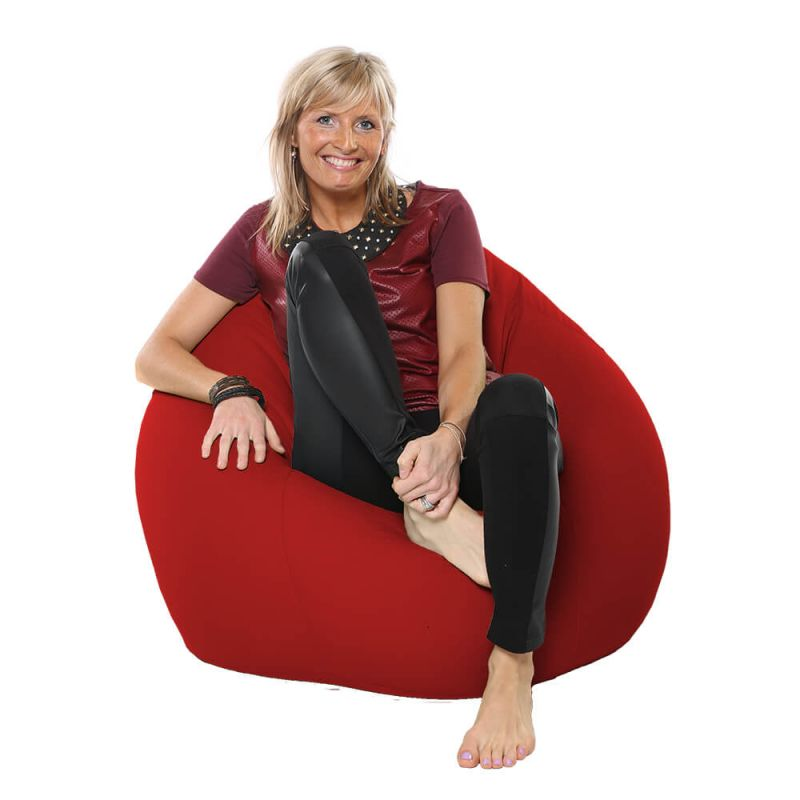 Indoor & Outdoor Highback Mansize Bean Bag - Red