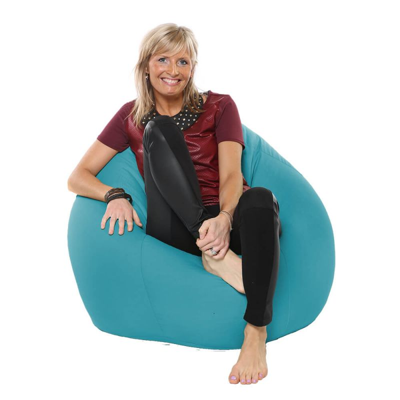Indoor & Outdoor Highback Mansize Bean Bag - Turquoise