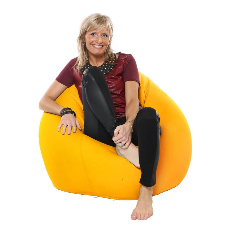 Indoor & Outdoor Highback Mansize Bean Bag - Yellow