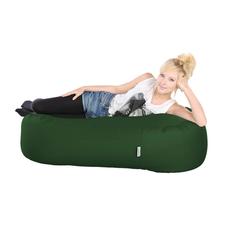 Indoor & Outdoor Ottoman Bean Bag - Bottle Green
