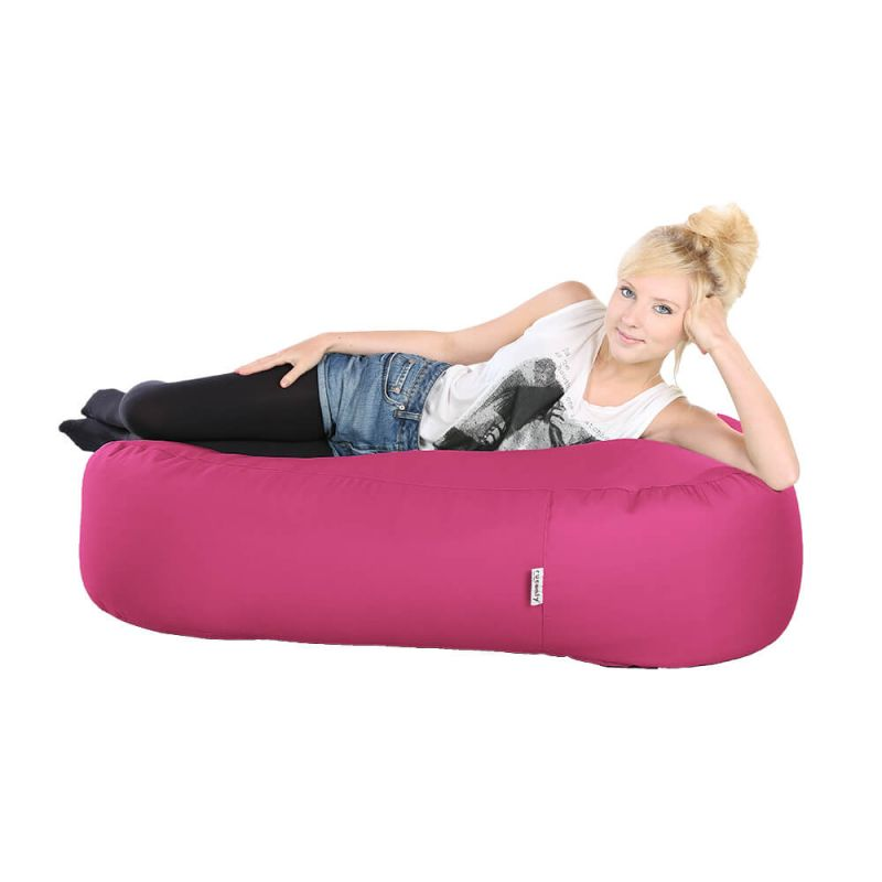 Indoor & Outdoor Ottoman Bean Bag - Cerise Pink